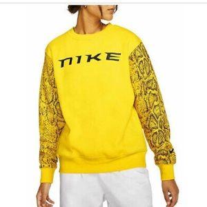 BNWT Nike Yellow Python Sleeve Crewneck